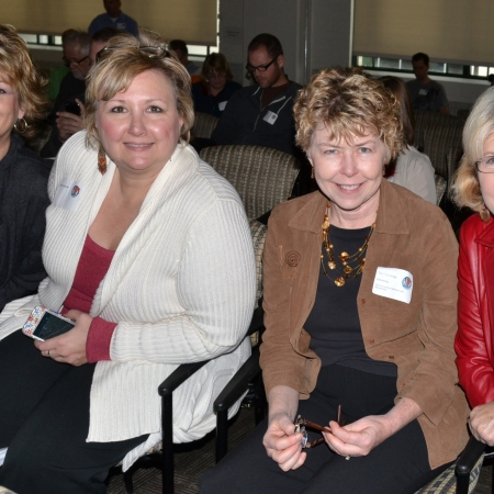 Image of four female attendees to the blogger conference