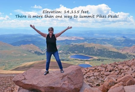 Nadia Giordana at Summit of Pikes Peak, 14,115 feet